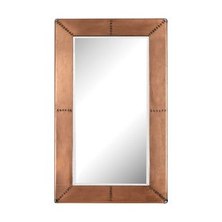 Dimond Home Copper Frame Mirror With Nail Head