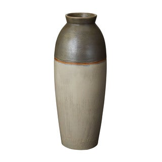 Dimond Home Olive Fire Line Vase (Large)