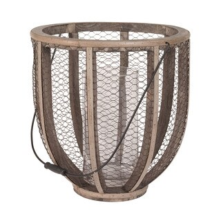 Dimond Home Barrel Wire Atlas Hurricane Vase