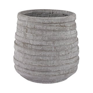 Dimond Home Barn Gray Corrugated Pot