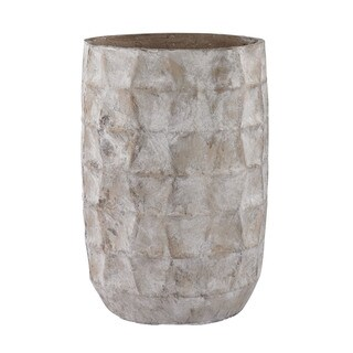 Dimond Home Aged Powdered Vase With Faceted Texture