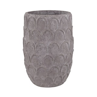 Dimond Home Large Aged Powdered Lotus Petal-Carved Pot