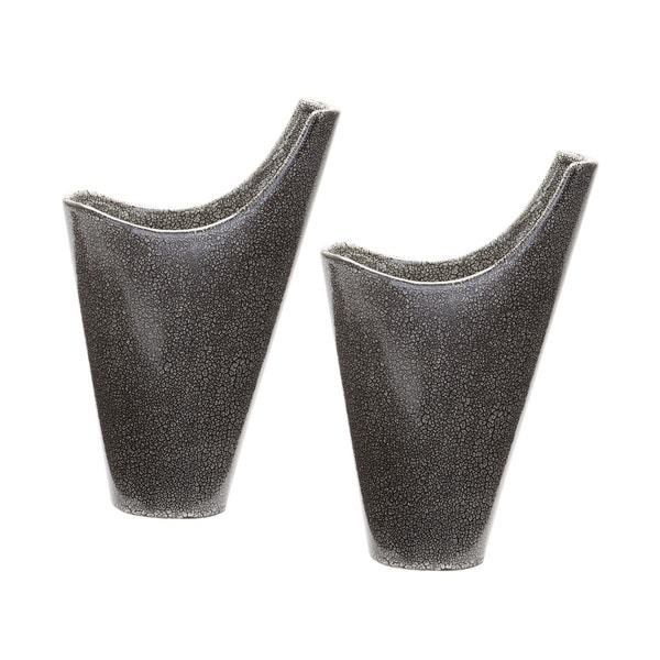 Dimond Home Reaction Filled Vases In Grey Set Of 2 Free Shipping