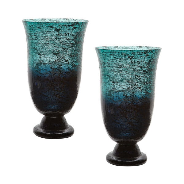 Dimond Home Emerald Ombre Flared Vase (Set of 2)
