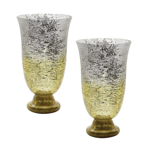 Dimond Home Lemon Ombre Flared Vase (Set of 2)