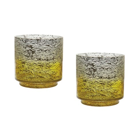 Dimond Home Set of 2 Lemon Ombre Hurricanes