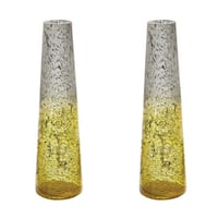 Dimond Home Set of 2 Lemon Ombre Snorkel Vases
