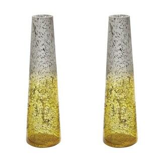 Dimond Home Set of 2 Lemon Ombre Snorkel Vases