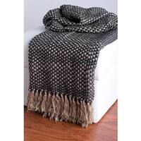 Rizzy Home Beige And Grey Decorative Throw
