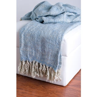 Rizzy Home Blue Decorative Throw