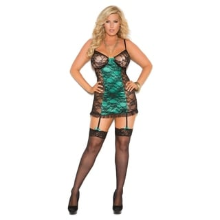 Elegant Moments Plus Size Women's Lace Chemise