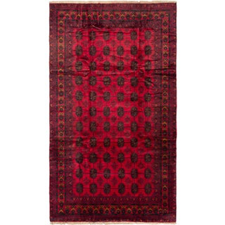 Ecarpetgallery Royal Balouch Red Wool elephant Foot rug (7'0 x 12'4)