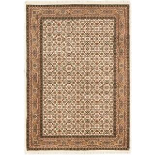 Ecarpetgallery Bijar Beige/ Cream Wool Mahee rug (5'8 x 8'0)