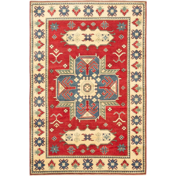 Ecarpetgallery Finest Gazni Red Wool Medallion rug