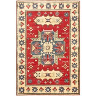 Ecarpetgallery Finest Gazni Red Wool Medallion rug (5'11 x 8'9)