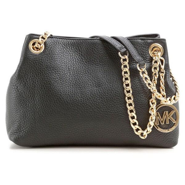 a43ab532354b Shop Michael Kors Jet Set Chain Medium Black Messenger Bag - Free ...
