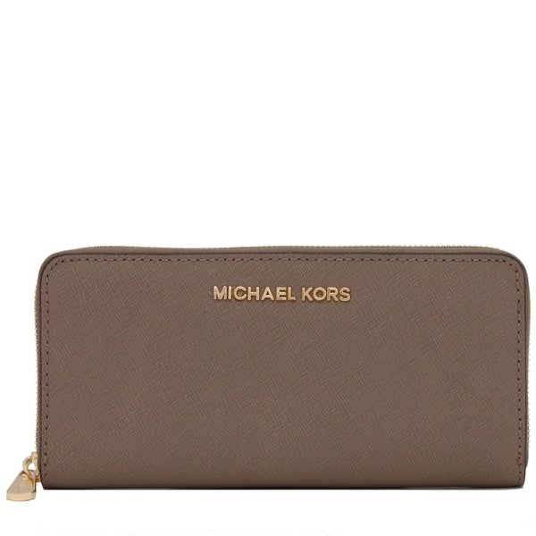 cafd28b637a8 Michael Kors Jet Set Leather Dark Dune Continental Travel Wallet. Click to  Zoom