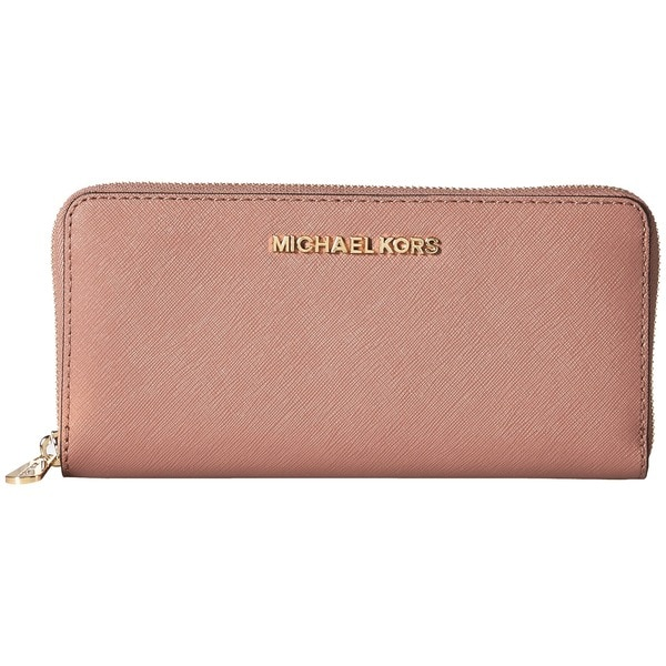 c6a16d390ae8 Shop Michael Kors Jet Set Leather Dusty Rose Continental Travel ...
