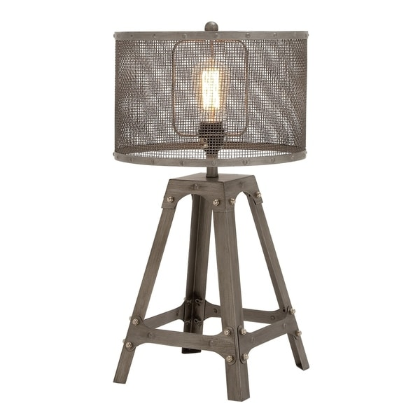 23 Inch Industrial Iron Quadripod Mesh Table Lamp by Studio 350
