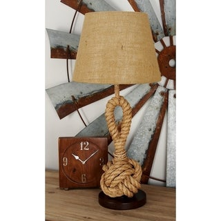 Coastal Knotted Rope Table Lamp