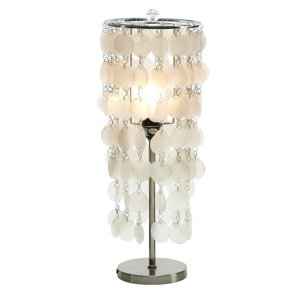 Hanging capiz shell table lamp free shipping today overstock hanging capiz shell table lamp aloadofball Image collections