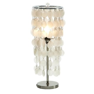 Hanging Capiz Shell Table Lamp