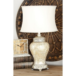 Bronze Mosaic Glass Jar Table Lamp
