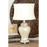 Bronze Mosaic Glass Jar Table Lamp