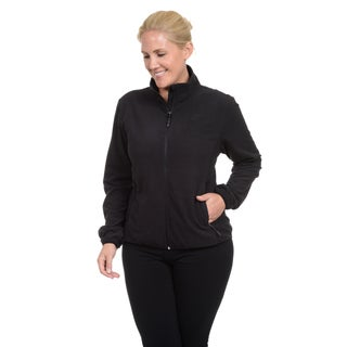 Champion Women's Plus Mock Neck Two Sided Anti-pull Textured Microfleece Jacket