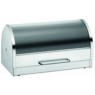 WMF Breadbox with Fold Down Lid, Stainless Steel