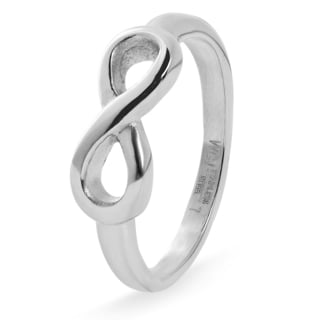 Stainless Steel Infinity Ring - Silver