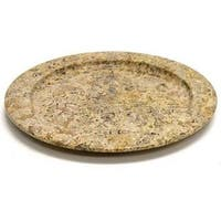Nature Home Decor Fossil Stone 12-inch Serving Plate