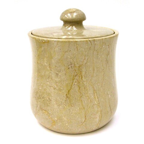 Nature Home Decor Sahara Beige Marble Modern 9-inch Kitchen Canister