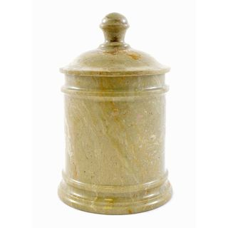 Nature Home Decor Sahara Beige Marble Classic 8-inch Kitchen Canister