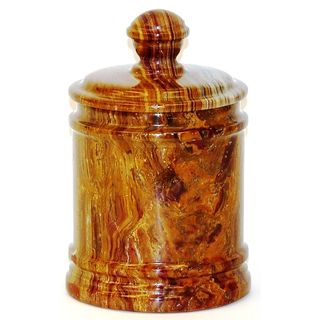 Nature Home Decor Multi Brown Onyx Classic 8-inch Kitchen Canister
