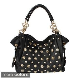 Oasis Handbag 'Tori' Studded Shoulder Hobo Bag