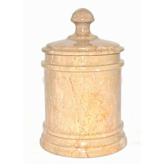 Nature Home Decor Sahara Beige Marble Classic 7-inch Kitchen Canister