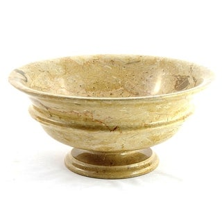 Nature Home Decor Sahara Beige Marble 9-inch Classic Fruit Bowl