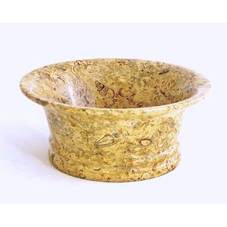 Nature Home Decor Fossil Stone 8-inch Classic Bowl
