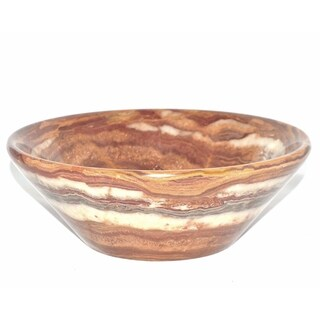 Nature Home Decor Multi Brown Onyx 9.5-inch Modern Bowl
