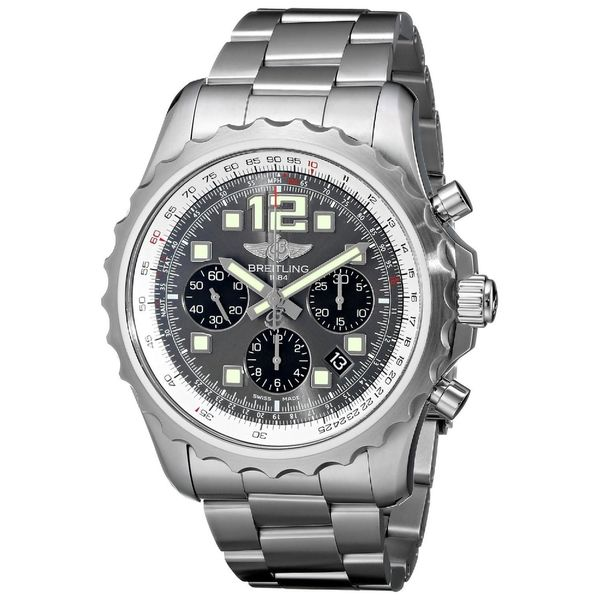 Breitling Men's A2336035-F555 'Chronospace' Chronograph Automatic Stainless Steel Watch. Opens flyout.