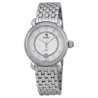 Michele Women's MWW03T000035 'CSX 36' Diamond Stainless Steel Watch