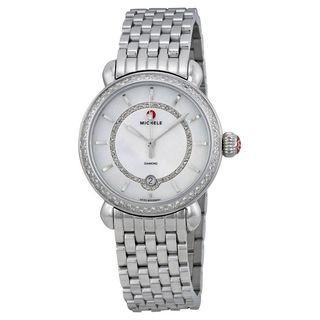 Michele Women's MWW03T000035 'CSX 36' Diamond Stainless Steel Watch