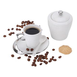 20-piece Service for 6 Porcelain Espresso Turkish Coffee Set