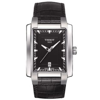 Tissot Women's 'T-Trend TXL ' Black Leather Watch