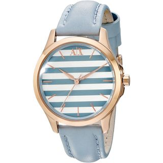 Armani Exchange Women's AX5238 Blue Leather Watch
