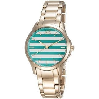 Armani Exchange Women's AX5233 Gold-Tone Stainless Steel Watch https://ak1.ostkcdn.com/images/products/10473598/P17563432.jpg?impolicy=medium