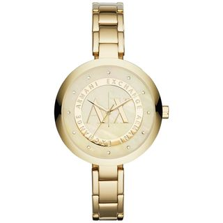 Armani Exchange Women's AX4224 Crystal Gold-Tone Stainless Steel Watch