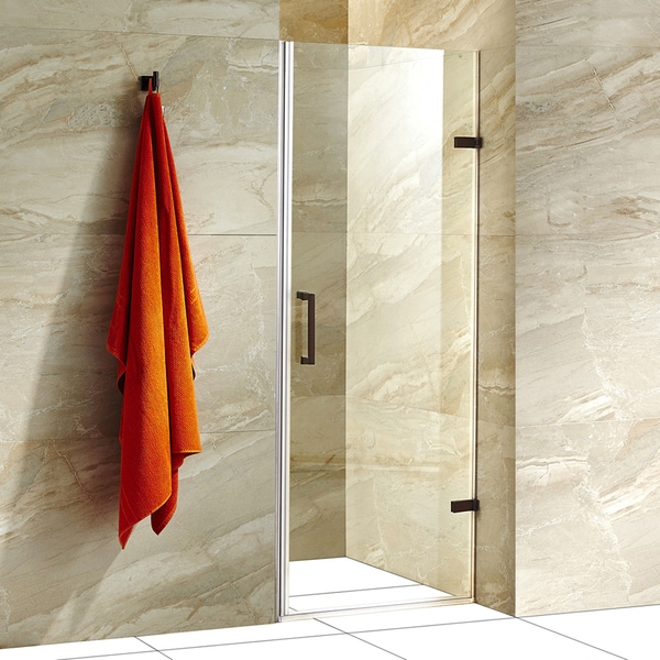 Vigo Soho 26 Inch Adjustable Frameless Shower Door With
