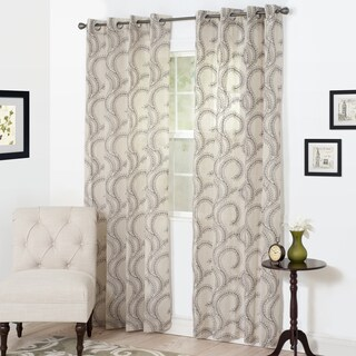 Windsor Home Lauren Embroidered Curtain Panel
